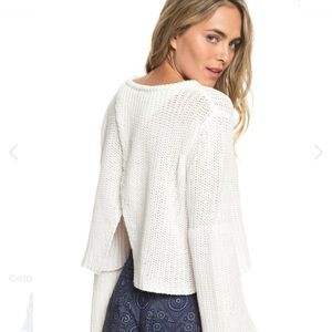 New Roxy Boardwalk Show Open Back Sweater